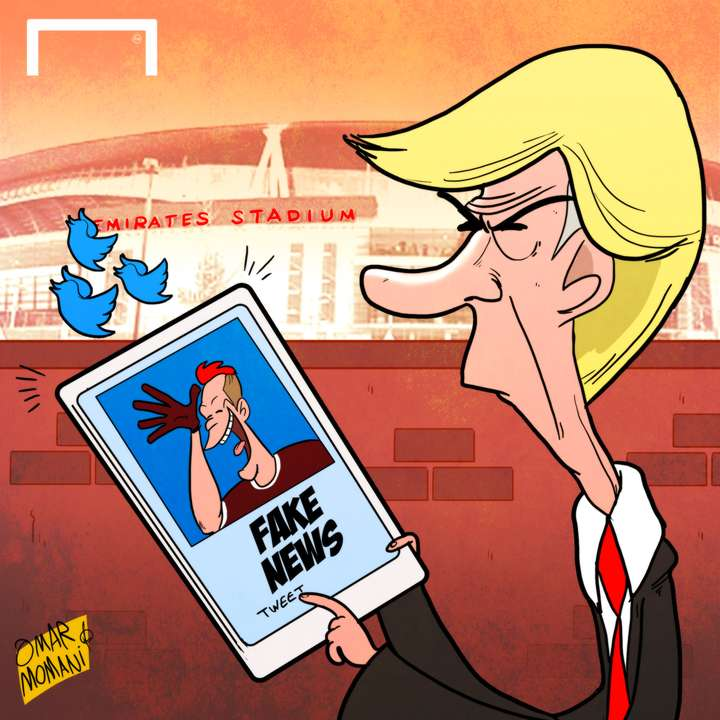 Wenger fake news cartoon