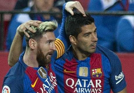 Duel Juggling Suarez & Messi, Siapa Lebih Jago?