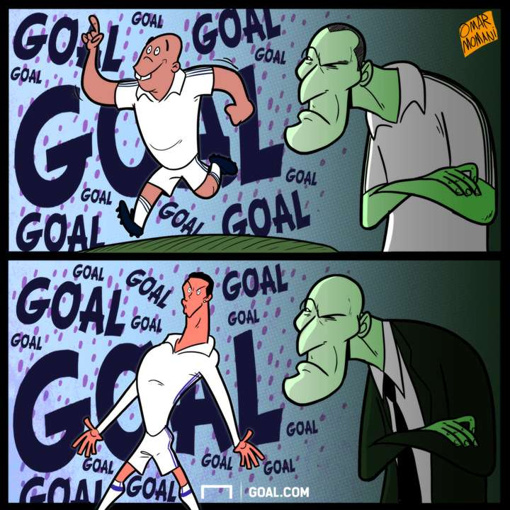 Zinedine Zidane Ronaldo cartoon