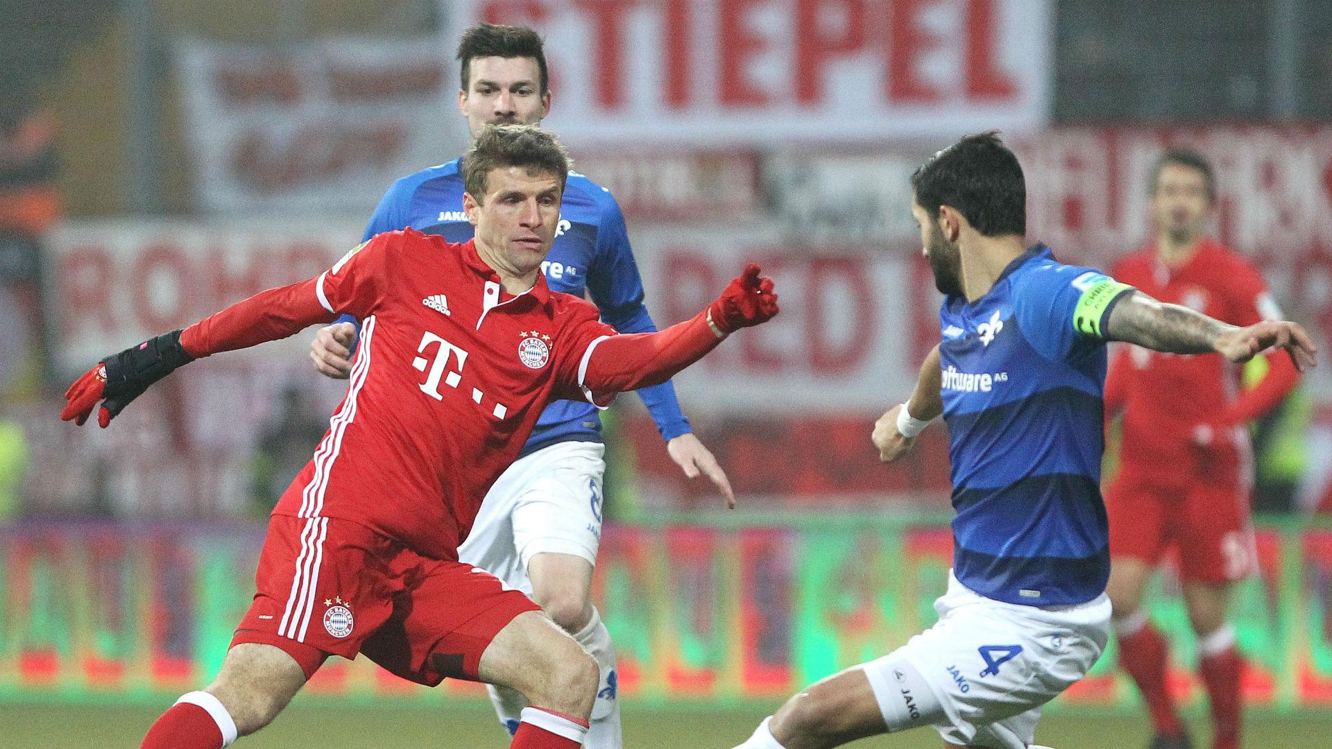 Thomas Muller Bundesligan Darmstadt v Bayern