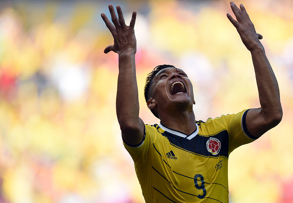 Teofilo Gutierrez Colombia Greece 2014 World Cup Group C 14062014
