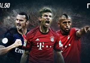 Avant la publication vendredi du de la liste et du classement complet du Goal 50, récompensant les meilleurs joueurs de la saison 2014-2015 nous vous présentons les stars de Ligue 1 et de Bundesliga présentes.