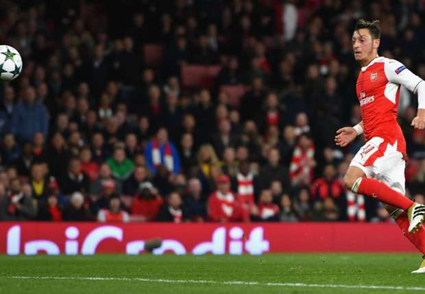 Arsenal 6-0 Ludogorets: Ozil bags hat-trick as Gunners romp to easy win