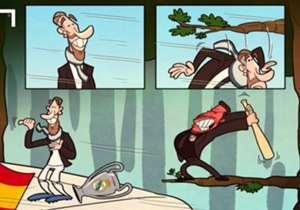 30 MAY | ¿Fue Simeone quién puso la rama que casi arranca la cabeza a Sergio Ramos en la celebración del Real Madrid?