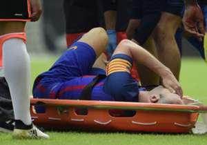 El futbolista manchego, lesionado en Valencia el 22 de octubre, estará entre 6 y 8 semanas de baja. Estos son los partidos que se perdería el futbolista azulgrana