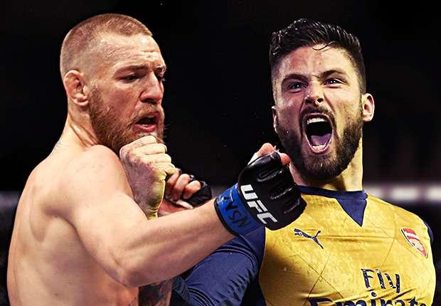Image result for Arsenal star Giroud challenges UFC champion McGregor