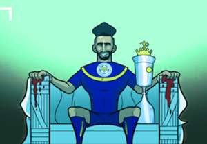 ...tetapi PFA Player of the Year Mahrez membantu klub menghancurkan Swansea dan pekan berikutnya Tottenham gagal menaklukkan West Brom.
