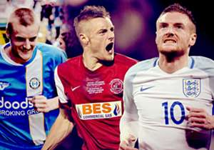 Jamie Vardy has been the poster-boy of Leicester's fairytale Premier League title victory this season. In a series of images, Goal's David Milner shows how Vardy went from being a non-league footballer to Premier League champion in the space of five ye...