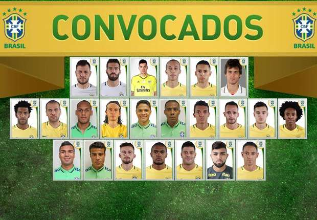Seleção Brasileira  númeração oficial - Goal.com 3410bd1cb97dd