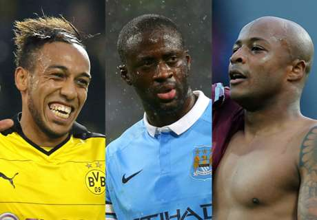 Toure & Aubameyang up for CAF gong