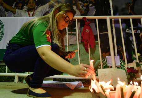 Nacional fans pay tribute to Chape