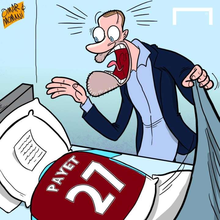 Cartoon Payet on strike