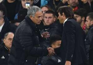Vor dem Spiel war noch alles gut zwischen Mourinho (l.) und Conte