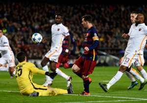 Il goal di Messi contro la Roma