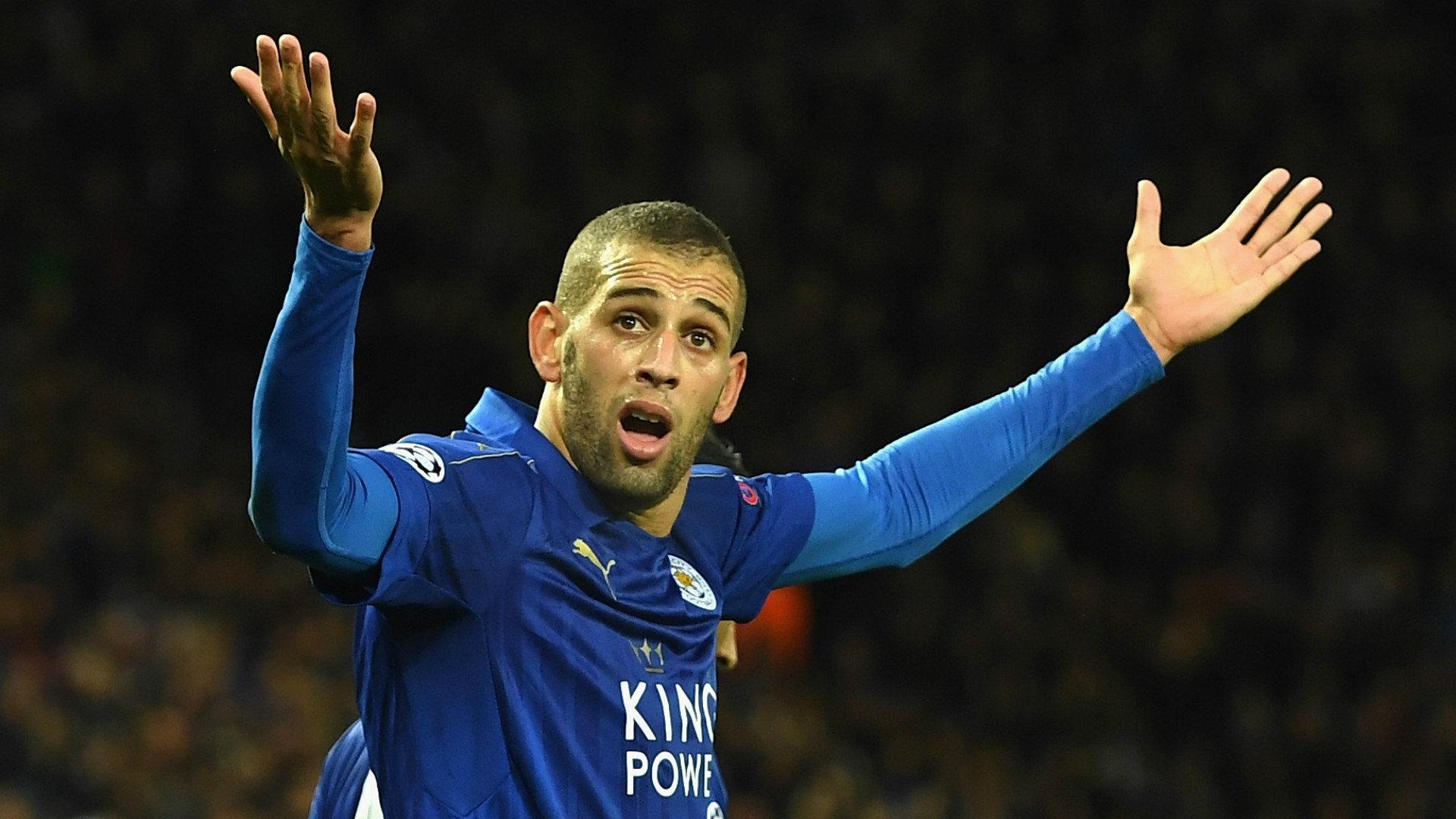 HD Islam Slimani Leicester City