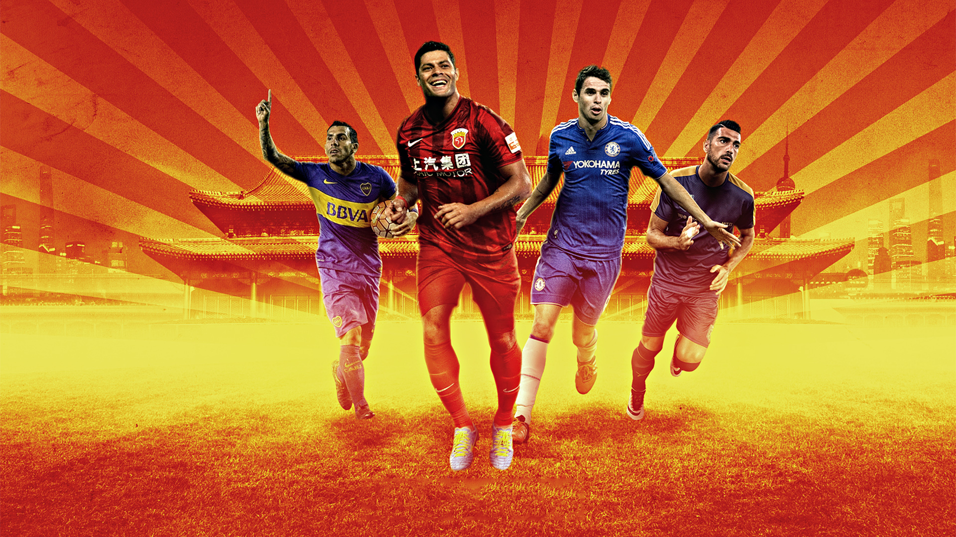 Chinese Super League Feature Hulk Oscar Tevez