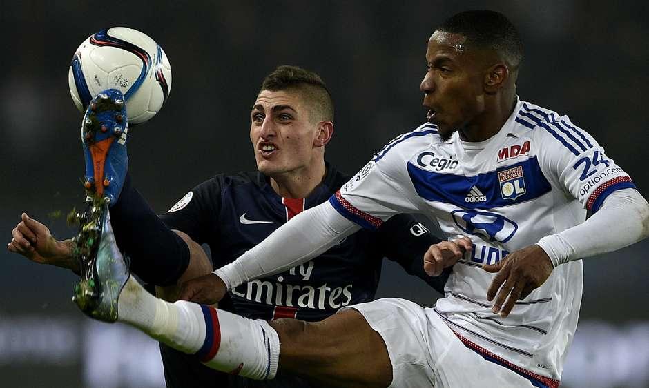 Olivier Kemen Marco Verratti PSG Lyon 13122015