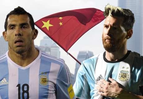 Tevez no ve a Messi en China
