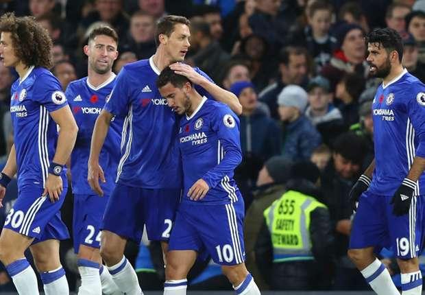 Chelsea 5-0 Everton: Hazard at the double as Conte's men go top