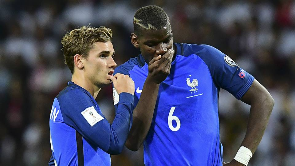 Antoine Griezmann Paul Pogba France 2016