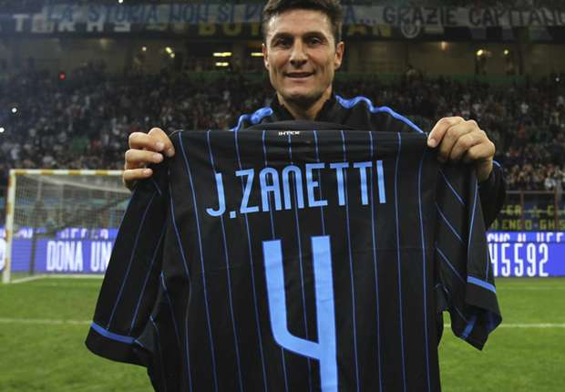 Four-ever: Inter pay homage to Zanetti with retired shirt celebrations