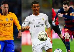 En se basant sur les données de Transfermarkt, Sportune a dressé la liste des valeurs marchandes des nommés pour le Ballon d'Or. Goal vous propose le Top 10 des joueurs les plus chers.