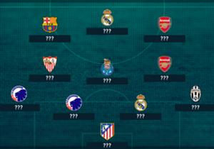 Barcelonas Lionel Messi erzielte zehn Treffer und auch Arsenals Mesut Özil feierte sieben Torbeteiligungen. Doch wer schafft es noch in die Top-11?