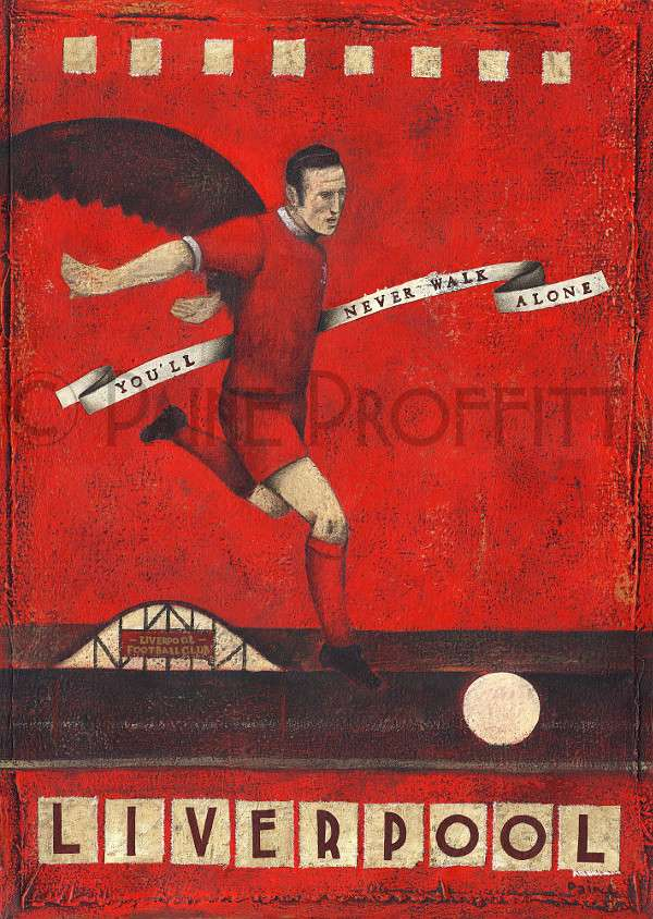 Project combined Vintage football poster have been