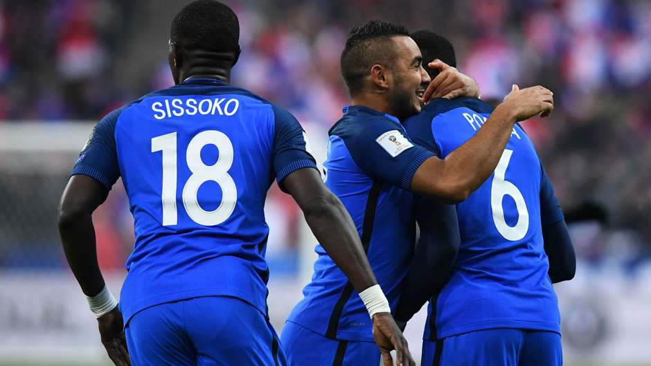 Paul Pogba Dimitri Payet France Sweden World Cup Qualifiers 11112016
