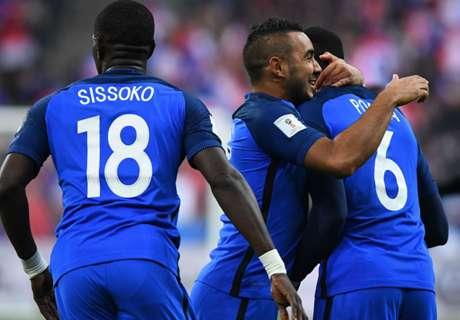 Eliminatorias: Francia 2-1 Suecia