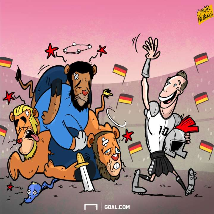 CARTOON Podolski bows out in style