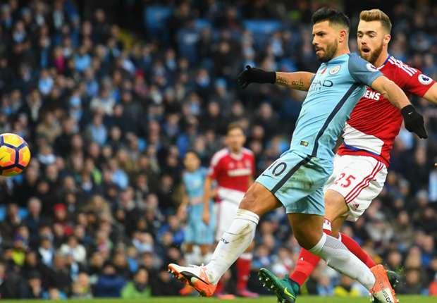 Manchester City 1-1 Middlesbrough: Aguero strike not enough for Guardiola's men