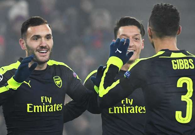 Basel 1-4 Arsenal: Perez hat-trick seals top spot for Gunners
