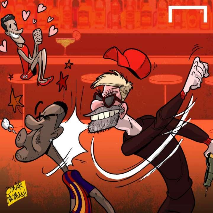 CARTOON Klopp punches Neymar