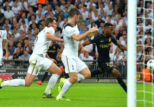 Tottenham 1-2 Monaco: Lemar stuns Spurs at Wembley