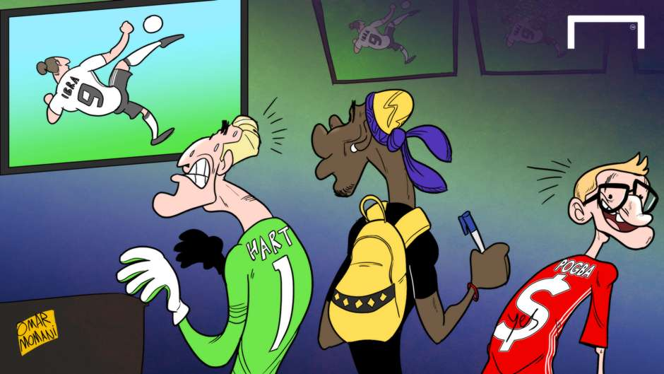 CARTOON Ibrahimovic scores on Man Utd debut