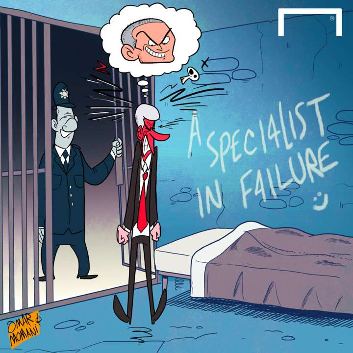Cartoon Wenger touchline ban