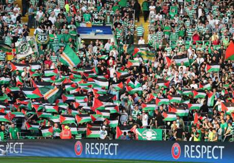 Celtic fined for Palestine flags