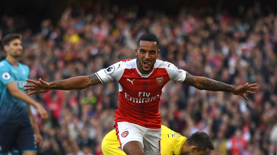 Theo Walcott Arsenal Swansea Premier League 151016