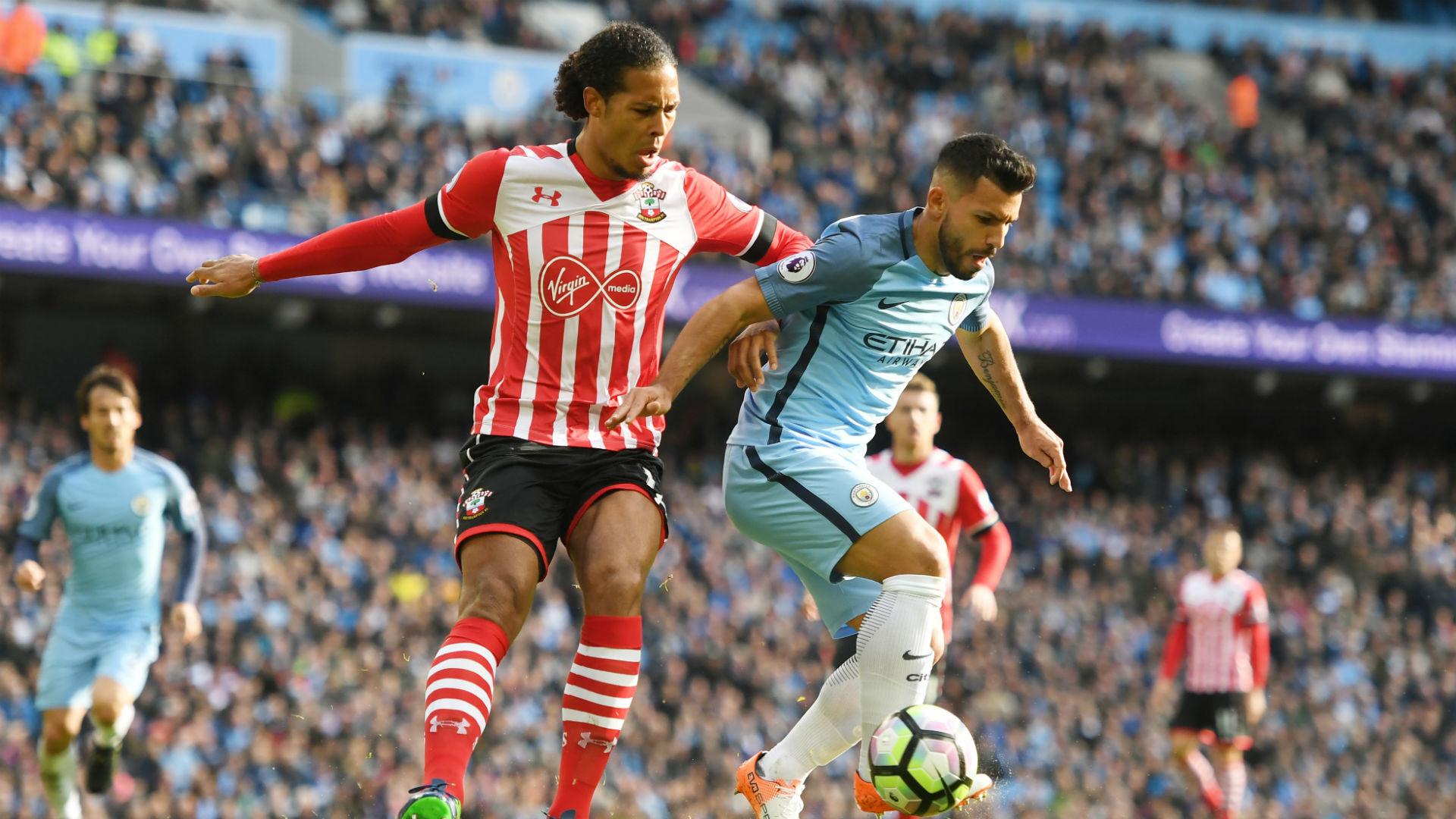 Virgil van Dijk Premier League Manchester City v Southampton