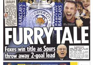 <strong>SUN</strong> | UK | FURRYTALE | Foxes win title as Spurs throw away two goal lead.
