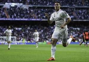 James bahagia di Madrid.