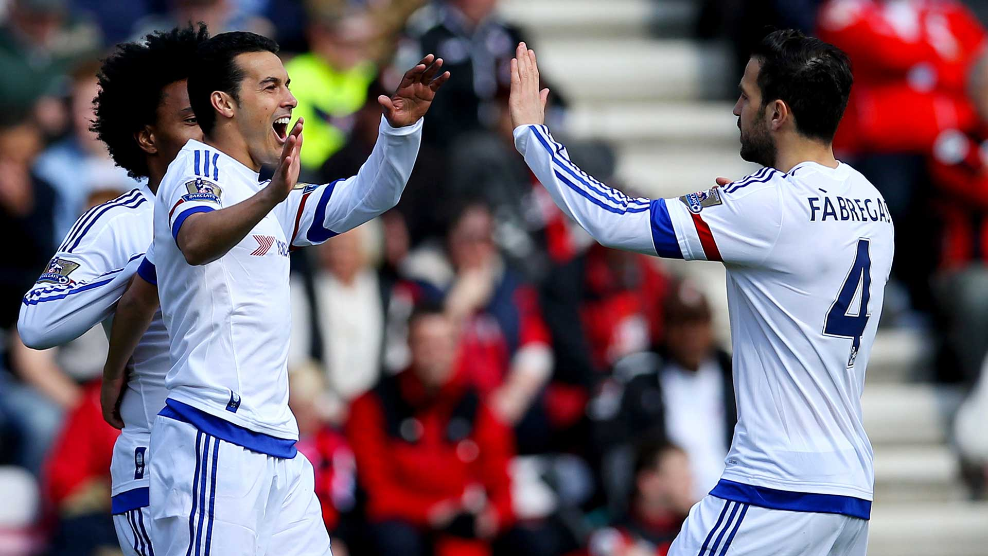 Pedro shows Fabregas how to impress Conte at Chelsea