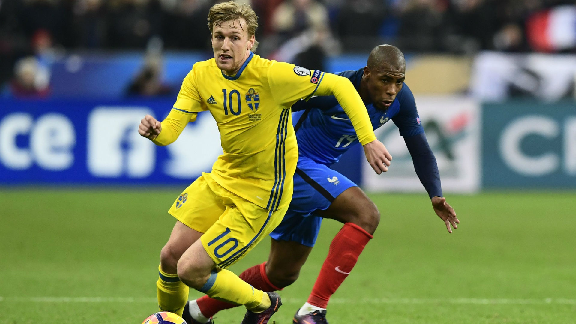 Emil Forsberg Djibril Sidibe France Sweden World Cup Qualifiers 11112016