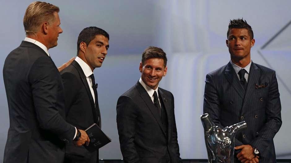 Hasil gambar untuk Lionel Messi, Luis Suarez dan juga Cristiano Ronaldo.
