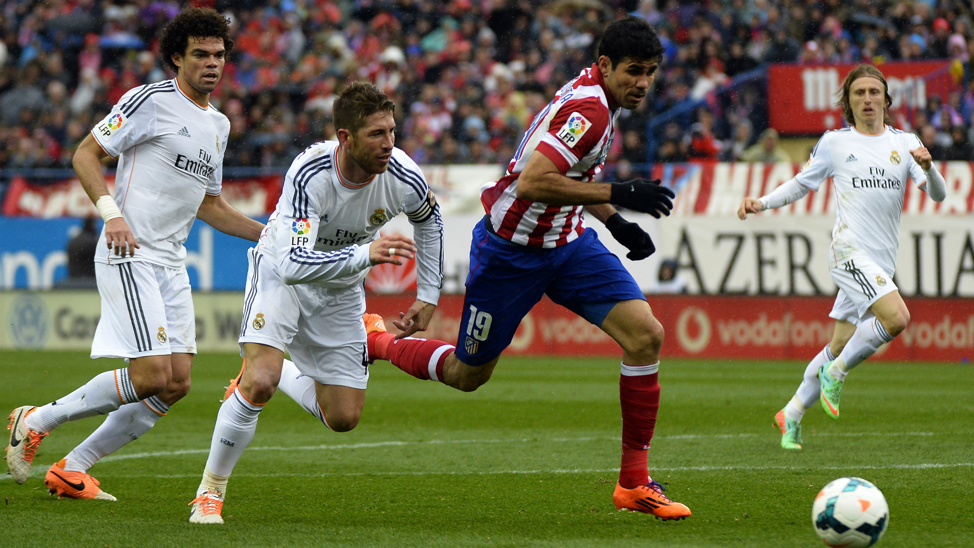 Diego Costa Sergio Ramos Pepe Real Madrid Atletico Madrid