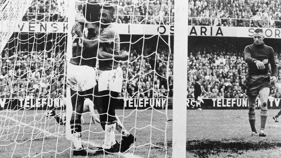 Pele Brazil Sweden 1958 World Cup