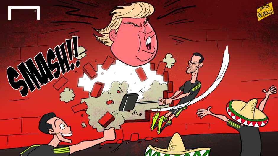 CARTOON Mexico beat Trump's wall