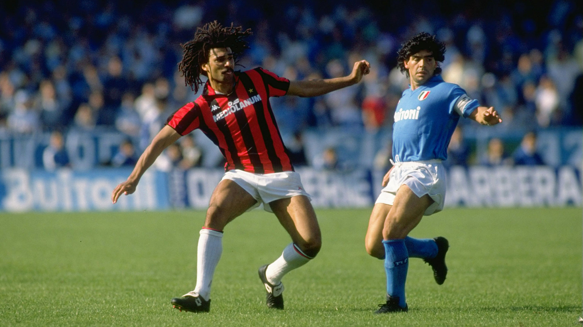 Ruud Gullit Diego Maradona AC Milan Napoli Goal