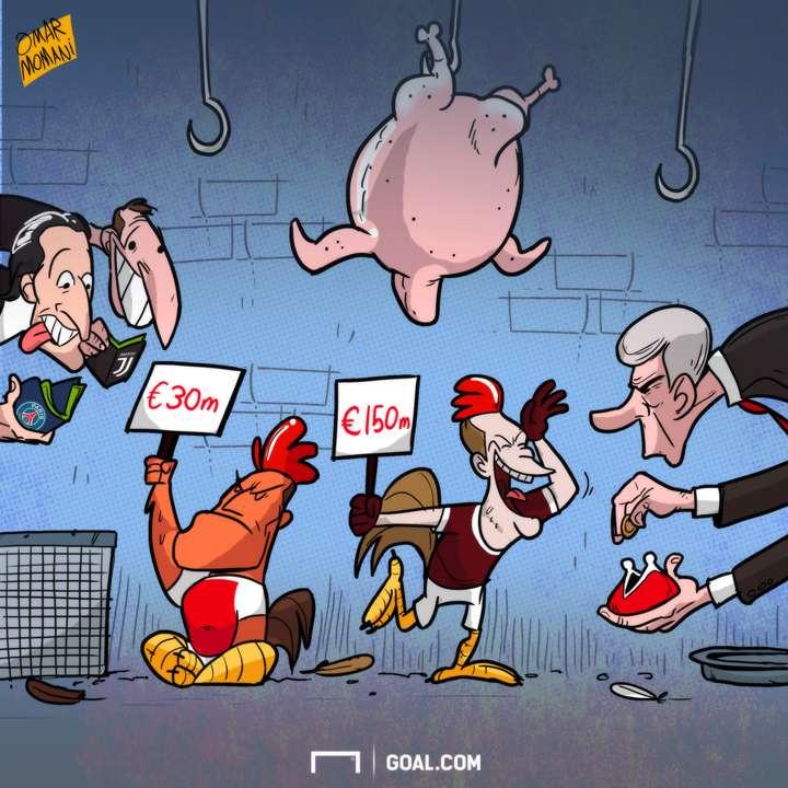 Wenger Belotti Sanchez cartoon